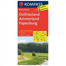Kompass - Ostfriesland - Cartes de randonnée à vélo
