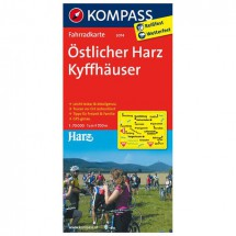 Kompass - Östlicher Harz - Cartes de randonnée à vélo