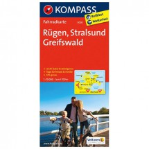 Kompass - Rügen - Cartes de randonnée à vélo