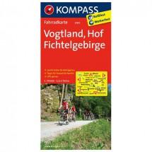 Kompass - Vogtland - Cartes de randonnée à vélo