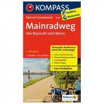 Kompass - Mainradweg, Von Bayreuth nach Mainz - Radkarte