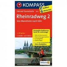 Kompass - Rheinradweg 2, Von Mannheim nach Köln - Radkarte