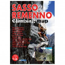 Versante Sud - Sasso Remenno Climbing Map - Kiipeilyoppaat