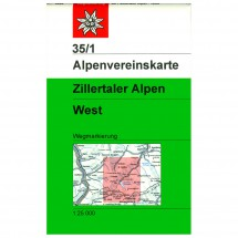 DAV - Zillertaler Alpen, westliches Blatt 35/1