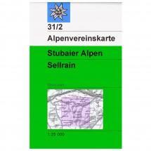 DAV - Stubaier Alpen, Sellrain 31/2 - Skitourenkarte