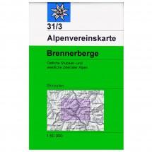 DAV - Stubaier Alpen, Brennerberge 31/3 - Skitourenkarte