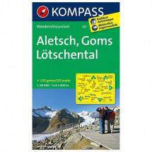 Kompass - Aletsch - Goms - Lötschental - Wanderkarte