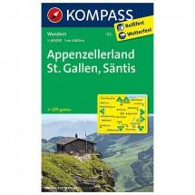 Kompass - Appenzellerland - Wanderkarte
