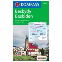 Kompass - Beskiden /Beskydy - Cartes de randonnée