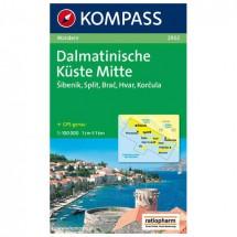 Kompass - Dalmatinische Küste Mitte - Wanderkarte