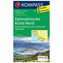 Kompass - Dalmatinische Küste Nord - Wanderkarte