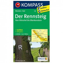 Kompass - Der Rennsteig - Hiking Maps