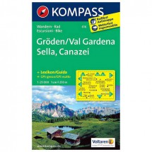Kompass - Gröden /Val Gardena /Sella /Canazei - Hiking Maps