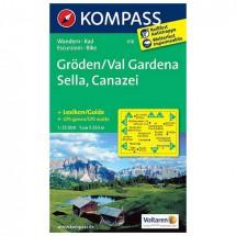 Kompass - Gröden /Val Gardena /Sella /Canazei - Wanderkarte