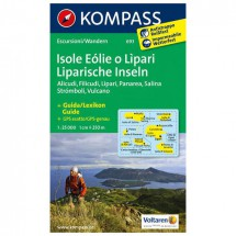 Kompass - Isole Eolie o Lipari - Wandelkaarten