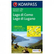 Kompass - Lago di Como /Lago di Lugano - Vaelluskartat
