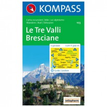 Kompass - Le Tre Valli Bresciane - Hiking Maps