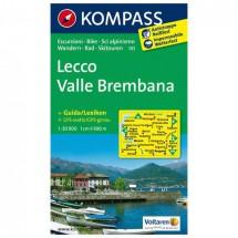 Kompass - Lecco /Valle Brembana - Wanderkarte