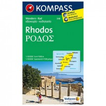 Kompass - Rhodos - Cartes de randonnée