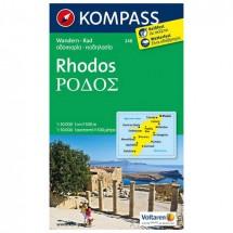 Kompass - Rhodos - Wanderkarte