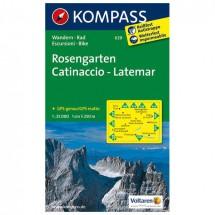 Kompass - Rosengarten /Catinaccio - Cartes de randonnée