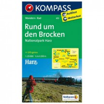 Kompass - Rund um den Brocken - Hiking Maps