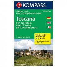 Kompass - Toscana - Wandelkaarten
