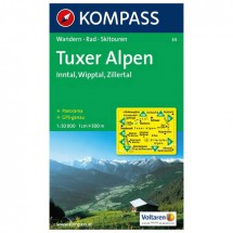 Kompass - Tuxer Alpen - Hiking Maps
