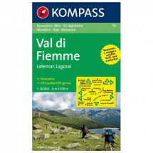 Kompass - Val di Fiemme /Fleimstal Latemar-Lagorai - Hiking map