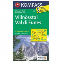 Kompass - Villnösstal /Val di Funes - Wanderkarte