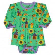Ej Sikke Lej - Kid's Mouse & House Body Dress - Mekko