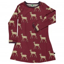 Smafolk - Kid's Dress L/S Deer - Kleid