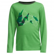 Icebreaker - Kid's Tech L/S Crewe Glass Mountain