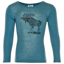 CeLaVi - Boy's Undershirt L/S Chest-Print Wool