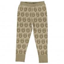 Smafolk - Kid's Leggins Wool Apples - Merinovilla-alusvaatte