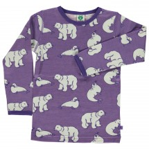 Smafolk - Kid's T-Shirt Wool Polarbear - Manches longues