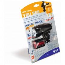 Busch & Müller - Lichtset Icon IQ Premium + IXBack Senso - Fahrradlampen-Set