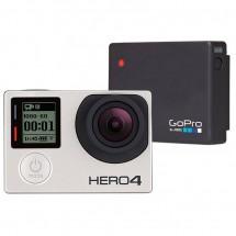 GoPro - Kamera-Set - Hero4 Silver & Battery Bacpac
