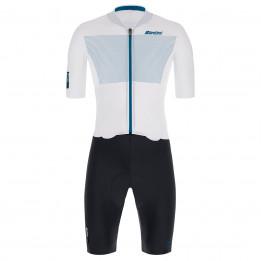 Santini - Skylight Jacket - Cycling skinsuit size S, grey/black