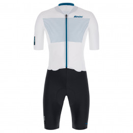 Santini - Skylight Jacket - Cycling skinsuit size XL, grey/black