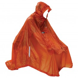 Exped - Daypack Poncho UL - Waterproof jacket size One Size, red