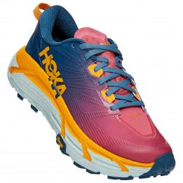 Hoka One One - Women's Mafate Speed 3 - Trailrunningschoenen, blauw/roze/oranje/grijs