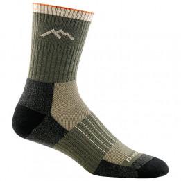 Darn Tough - Hunter Micro Crew Midweight With Cushion - Walking socks size XL, black/olive/grey