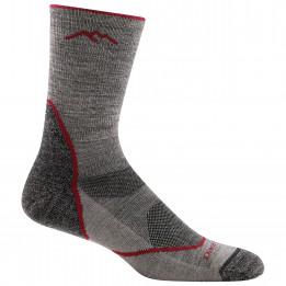 Darn Tough - Light Hiker Micro Crew Lightweight With Cushion - Walking socks size L, grey/black