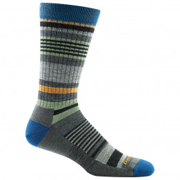 Darn Tough - Unstandard Stripe Crew Lightweight With Cushion - Sports socks size XL, black/grey/blue