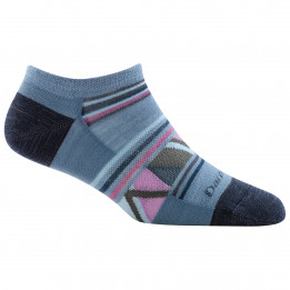 Darn Tough - Womens Bridge No Show Lightweight - Sports socks size L, blue/grey/black
