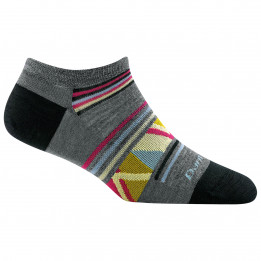 Darn Tough - Womens Bridge No Show Lightweight - Sports socks size L, black/grey