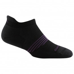 Darn Tough - Womens Athletic No Show Tab Lightweight w Cushion - Sports socks size M, black