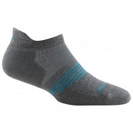 Darn Tough - Womens Athletic No Show Tab Lightweight w Cushion - Sports socks size S, black/grey