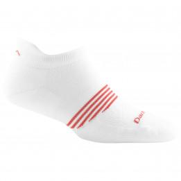 Darn Tough - Womens Athletic No Show Tab Lightweight w Cushion - Sports socks size L, grey/white